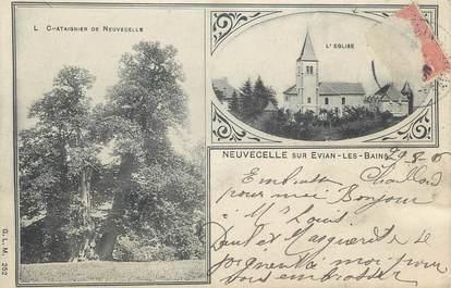 """.CPA FRANCE 74 """" Neuvecelle,  L'église"""""""