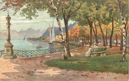 """.CPA FRANCE 74 """"Evian les Bains, Le jardins Anglais"""""""