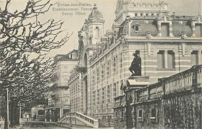 """.CPA FRANCE 74 """"Evian les Bains, Etablissement thermal Savoy hôtel"""""""