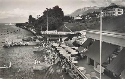 """.CPSM FRANCE 74 """"Evian les Bains, Le lac, la plage"""""""