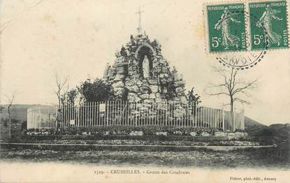 """.CPA FRANCE 74 """"Cruseilles,  Grottes des Coudray"""""""