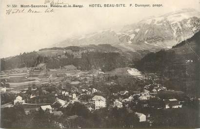 """.CPA FRANCE 74 """"Mont Saxonnex, Hôtel Beau Site"""""""""""