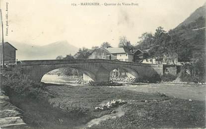 """.CPA FRANCE 74 """"Marignier, Quartieer du Vieux Pont"""""""