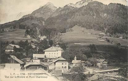 """.CPA FRANCE 74 """"Entremont,  Vue sur la rivière et Mont Charmieux"""""""