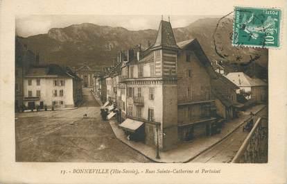 """.CPA FRANCE 74 """"Bonneville, Rue Sainte Catherine et Pertuiset'"""