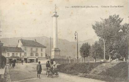".CPA FRANCE 74 ""Bonneville, Colonne Charles Albert"""