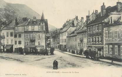 """.CPA FRANCE 74 """" Bonneville, Avenue de la gare  """""""