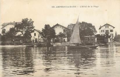 """.CPA FRANCE 74 """"Amphion Les Bains, Hôtel de la plage"""""""