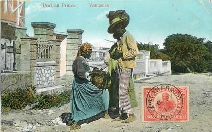 "CPA HAITI ""Port au Prince, vendeuse"""