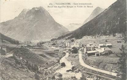 ".CPA FRANCE 74 ""Vallorcine, Gare internationale"""