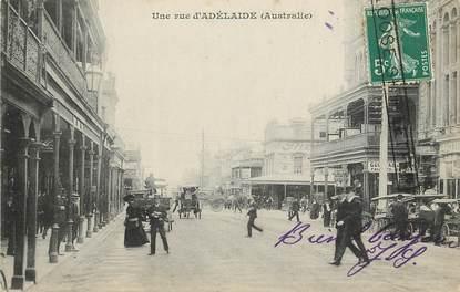 """CPA AUSTRALIE """"Une rue d'Adélaïde"""""""