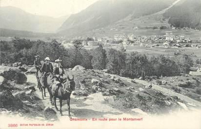""".CPA FRANCE 74 """"Chamonix, En route pour le Montanvert"""""""