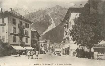 """.CPA FRANCE 74 """"Chamonix,  Avenue de la gare """""""