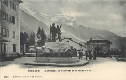 """.CPA FRANCE 74 """"Chamonix,  Monument de Saussure et le Mont Blanc"""""""
