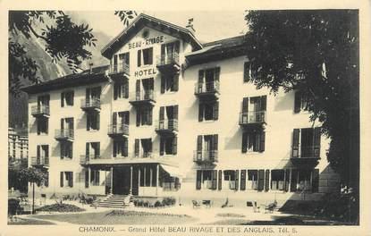 """.CPA FRANCE 74 """"Chamonix, Grand Hôtel Beau Rivage et des Anglais"""""""