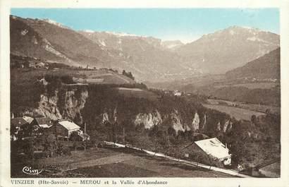 """.CPA FRANCE 74 """"Vinzier, Merou et Vallée de l'Abondance"""""""