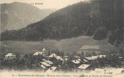 """.CPA FRANCE 74 """"Nancy sur Cluses, Vue générale et Route de Romme"""""""