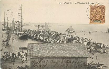 "CPA SÉNÉGAL ""Régates à Dakar"""