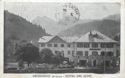 """.CPA FRANCE 74 """"Abondance, Hôtel des Alpes"""""""