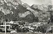 """74 Haute Savoie .CPSM  FRANCE 74 """"Abondance, Vue générale et Mont Chauffé"""""""