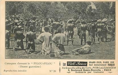 """CPA NOUVELLE CALEDONIE """"Canaques dansant le Pilou Pilou, danse guerrière"""""""