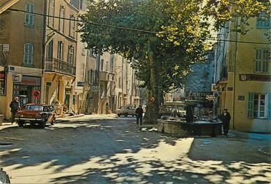 """CPSM FRANCE 83    """" Flayosc, place de la Fontaine"""""""