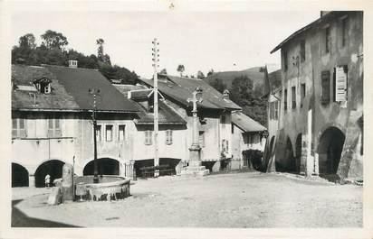 """.CPSM  FRANCE 74 """" Alby sur Chéran, Place du Trophée"""""""