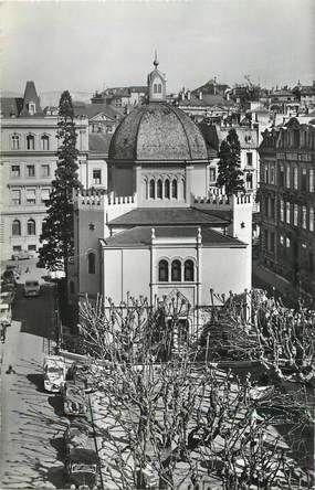 """CPSM SUISSE """"Genève, la Synagogue""""  / JUDAICA"""