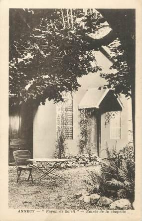 """.CPA FRANCE 74 """" Annecy, Entrée de la chapelle"""""""
