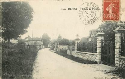 "CPA FRANCE 77  ""Héricy, Rte de Barbeau"""