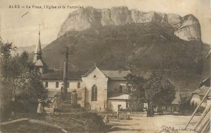 """.CPA FRANCE 74 """"Alex, La place et l'église"""""""