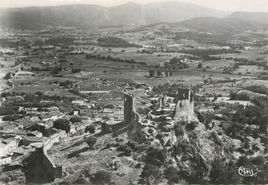 """CPSM FRANCE 83 """"Grimaud, vue aérienne du vieux chateau"""""""
