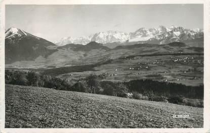 """.CPSM FRANCE 74 """" Bonne sur Menoge, La chaîne des Alpes et le Môle"""""""