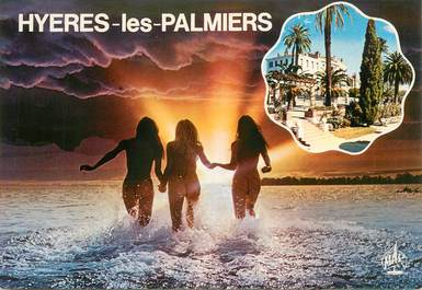 """CPSM FRANCE 83 """" Hyères les palmiers"""" / NU"""