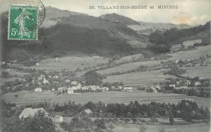 ".CPA  FRANCE 74 ""  Villard sur Boëge et Miribel   """