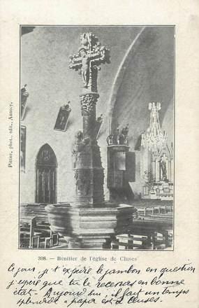 """.CPA  FRANCE 74 """"  Cluses, Bénitier de l'église"""""""