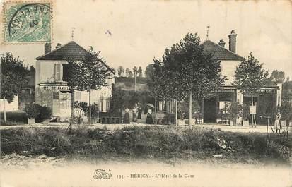 """CPA FRANCE 77  """"Héricy, Hotel de la Gare"""""""