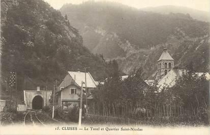 """.CPA  FRANCE 74 """"  Cluses, Le tunnel et quartier St Nicolas"""""""