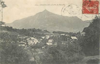 ".CPA  FRANCE 74 ""  Châtillon, Pic de Marcelly"""