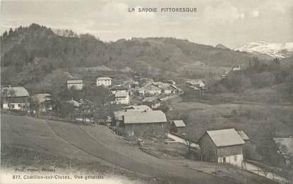 """.CPA  FRANCE 74 """"  Châtillon sur Cluses, Vue générale  """""""
