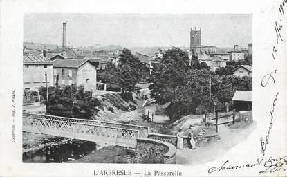 """.CPA FRANCE 69 """"  L'Arbresle, La passerelle"""""""