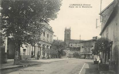 """.CPA FRANCE 69 """"  L'Arbresle, Place de la Madeleine"""""""