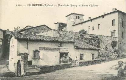""".CPA FRANCE 69 """"  Le Breuil, Montée du bourg et vieux château"""""""