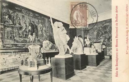 """CPA PORTUGAL """"Musée National des Beaux Arts, Sculptures"""""""