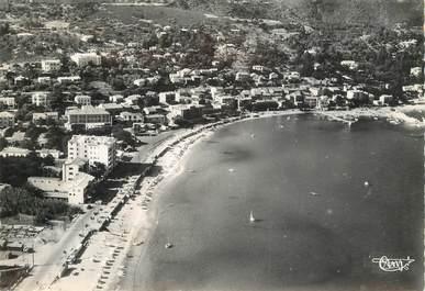 """CPSM FRANCE 83 """" Le Lavandou, vue aérienne panoramique de la plage"""""""