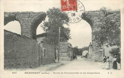 """.CPA FRANCE 69 """"  Beaunant, Rout""""e de Franchevviille et les Acqueducs"""""""