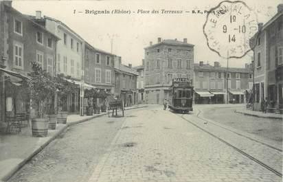 """.CPA  FRANCE 69 """"  Brignais, Place des Terreaux"""""""