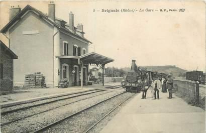 """.CPA  FRANCE 69 """"  Brignais, La gare"""" / TRAIN"""