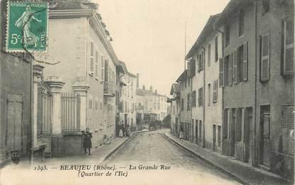 ".CPA  FRANCE 69 ""  Beaujeu, Grande rue"""