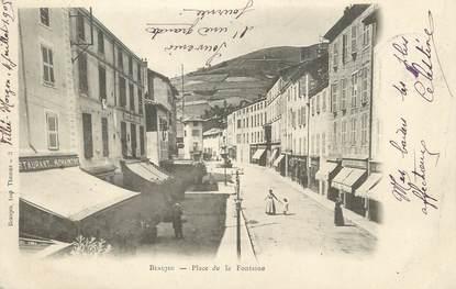 """.CPA  FRANCE 69 """"  Beaujeu, Place de la Fontaine"""""""